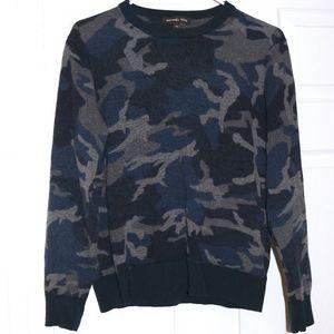 Michael Kors camo navy sweater
